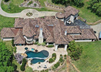Residential Tile Roof Aerial