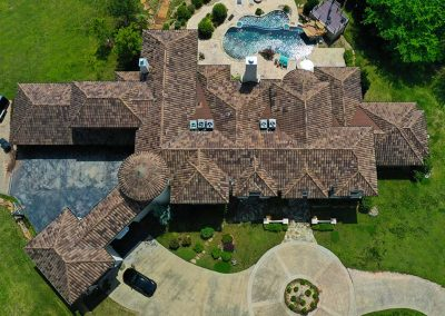 Residential Tile Roof Overhead