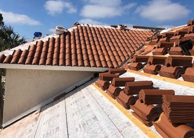 Roof Tiles During Construction