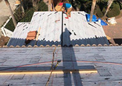 Tile Roof Under Construction